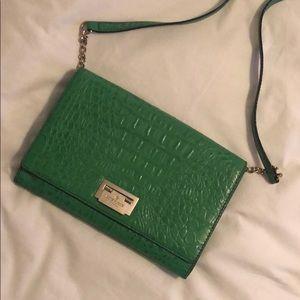 Kate spade green crocodile purse